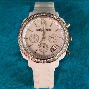 NWOT CERAMIC what Unisex MK chronograph date Watch